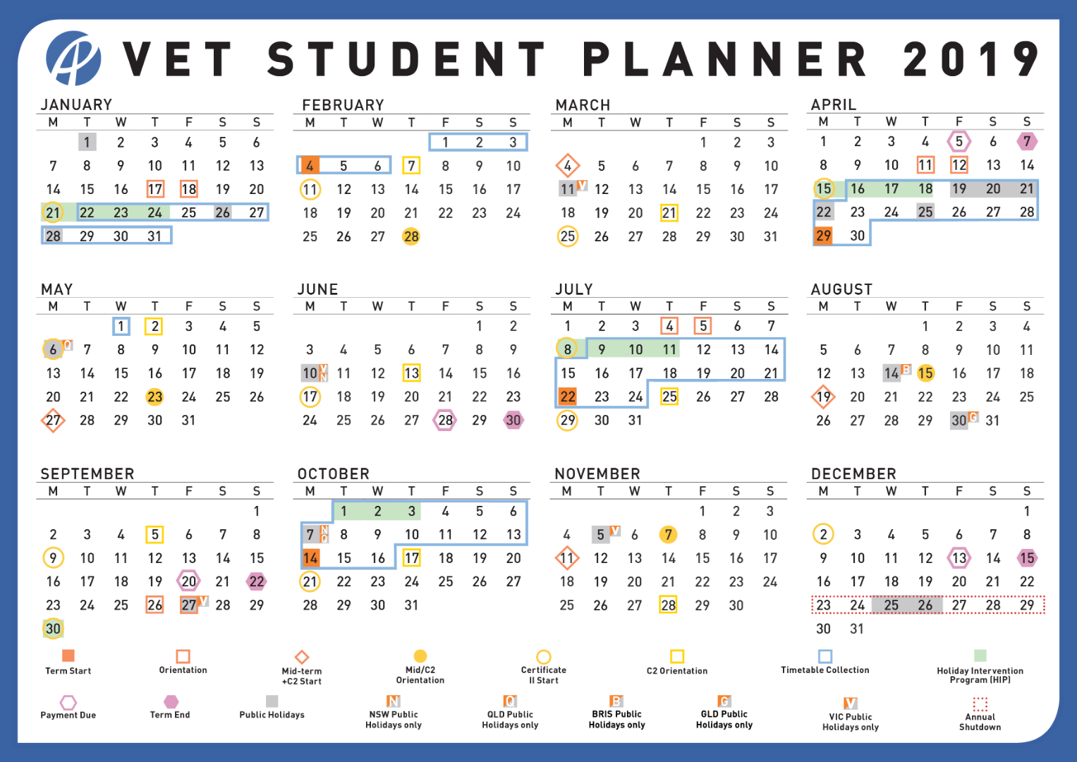 2020 Education Qld Calendar - Best Image And Wallpaper In ...